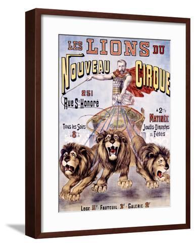 Les Lions du Nouveau Cirque-C. Levy-Framed Art Print
