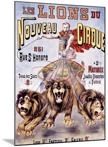 Les Lions du Nouveau Cirque-C. Levy-Mounted Giclee Print