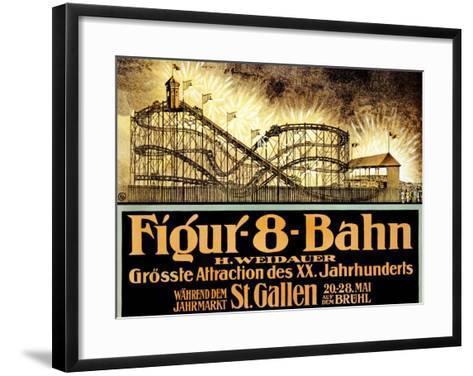 Figur 8 Bahn--Framed Art Print