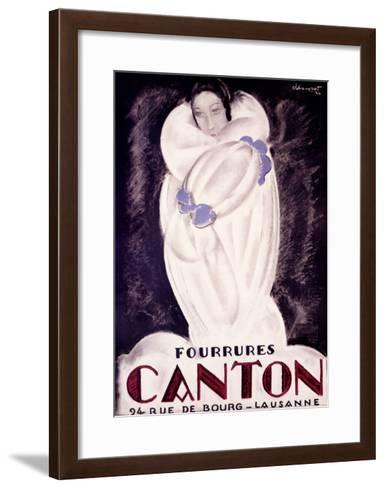 Fourrures Canton, 1924-Charles Loupot-Framed Art Print