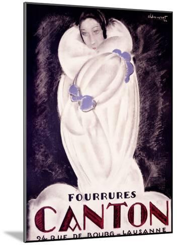 Fourrures Canton, 1924-Charles Loupot-Mounted Giclee Print