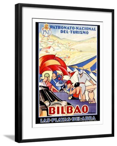 Bilbao-Colde Guezala-Framed Art Print