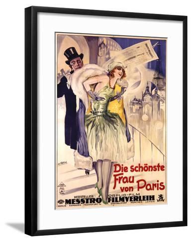 Die Schonste Frau Von Paris-W. Dietrich-Framed Art Print