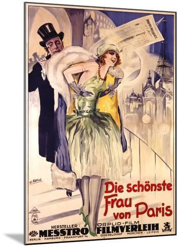 Die Schonste Frau Von Paris-W. Dietrich-Mounted Giclee Print