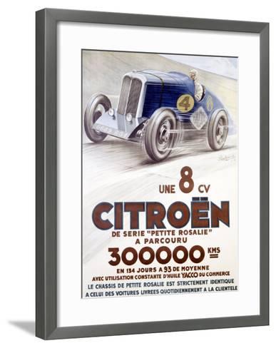 Citroen, Une 8 CV-Louys-Framed Art Print
