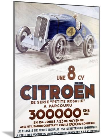 Citroen, Une 8 CV-Louys-Mounted Giclee Print