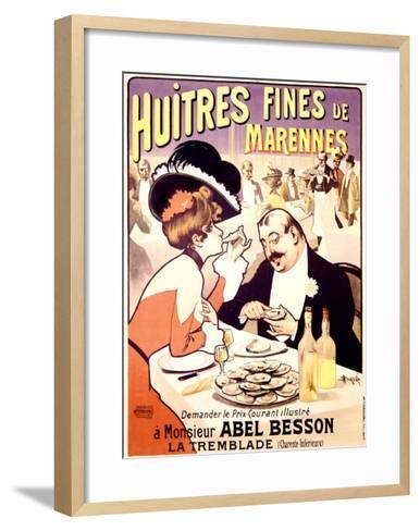 Huitres Fines de Marennes--Framed Art Print