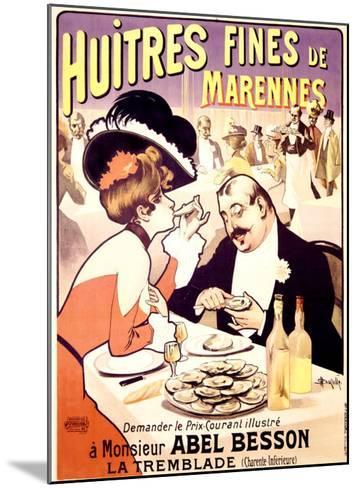 Huitres Fines de Marennes--Mounted Giclee Print