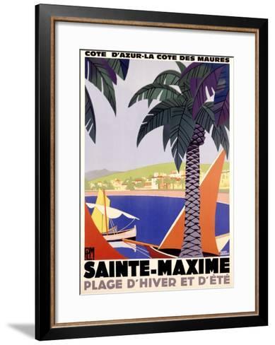 Sainte-Maxime-Roger Broders-Framed Art Print