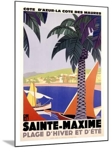 Sainte-Maxime-Roger Broders-Mounted Giclee Print