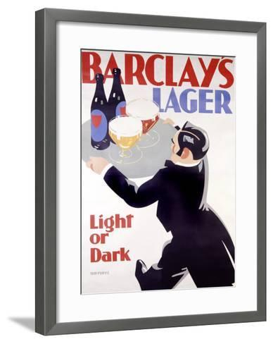 Barclay's Lager-Tom Purvis-Framed Art Print