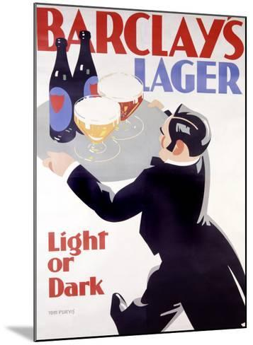 Barclay's Lager-Tom Purvis-Mounted Giclee Print
