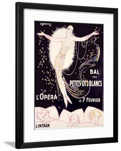 Bal des Petits Lits Blancs-Charles Gesmar-Framed Art Print