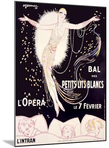 Bal des Petits Lits Blancs-Charles Gesmar-Mounted Giclee Print