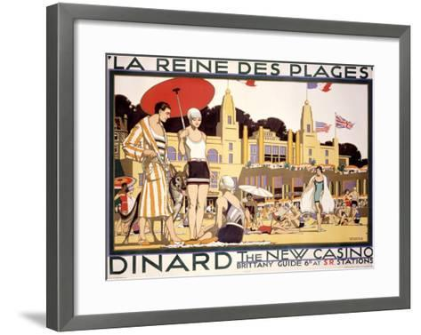 La Reine des Plages, Dinard--Framed Art Print
