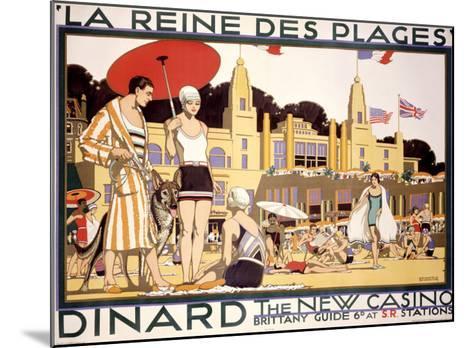 La Reine des Plages, Dinard--Mounted Giclee Print