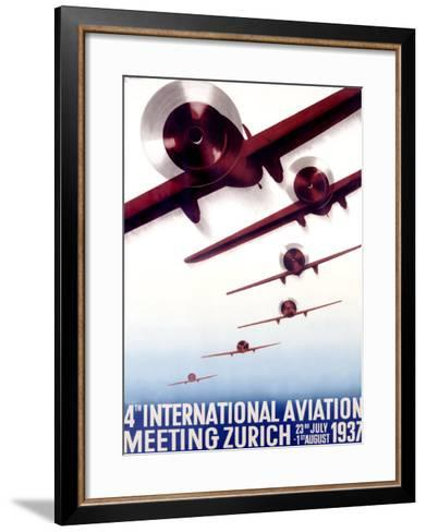 4th International Aviation Meeting, Zurich Giclee Print by Otto ...