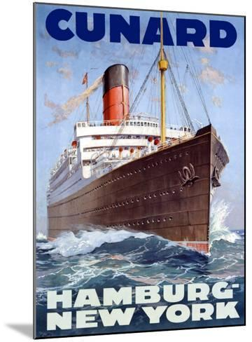 Cunard Line, Hamburg to New York-Hans Bohrdt-Mounted Giclee Print
