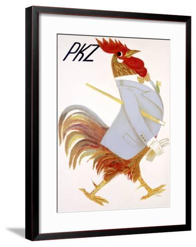 PKZ, Rooster-Carigiet Alois-Framed Art Print