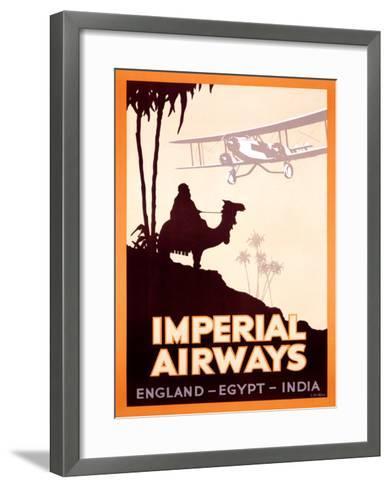 Imperial Airways, England-Egypt-India- Peckham-Framed Art Print
