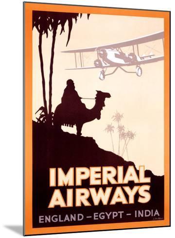 Imperial Airways, England-Egypt-India- Peckham-Mounted Giclee Print