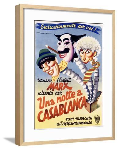 Una Notte a Casablanca-Enrico Deseta-Framed Art Print