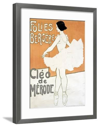 Cleo de Merode--Framed Art Print