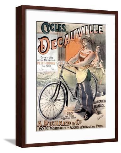 Cycles Decauville-Alfred Choubrac-Framed Art Print