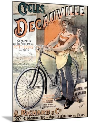Cycles Decauville-Alfred Choubrac-Mounted Giclee Print