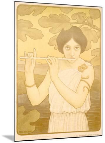 La Joyeuse de Flute-Paul Berthon-Mounted Giclee Print