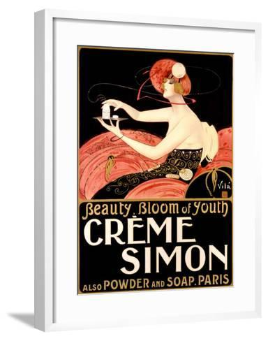 Creme Simone Bath Beauty-Emilio Vila-Framed Art Print