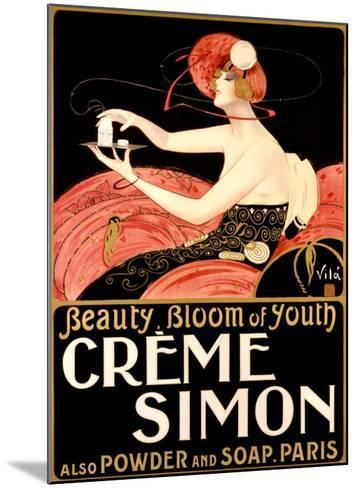 Creme Simone Bath Beauty-Emilio Vila-Mounted Giclee Print