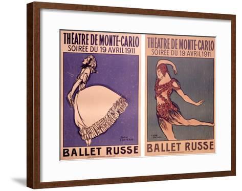 Theatre de Monte Carlo, Ballet Russe-Jean Cocteau-Framed Art Print