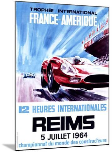 12 Heures Internationale, Reims, 1964-James Blank-Mounted Giclee Print