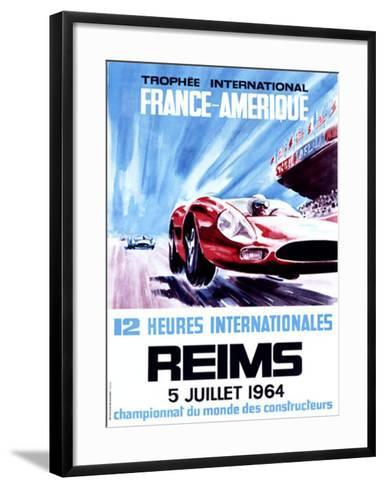 12 Heures Internationale, Reims, 1964-James Blank-Framed Art Print