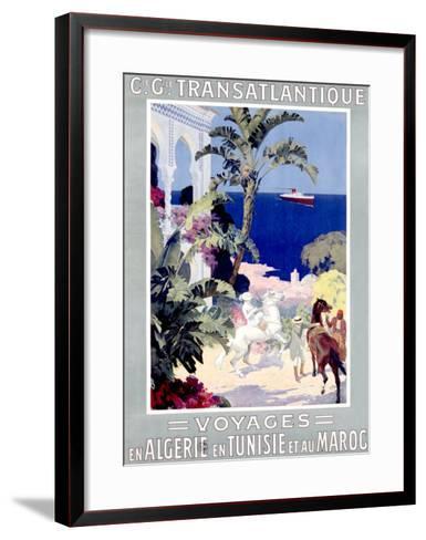 C.G. Transatlantique--Framed Art Print