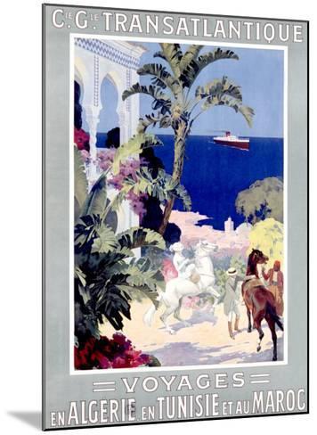 C.G. Transatlantique--Mounted Giclee Print