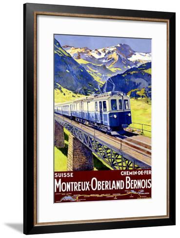 Montreux Oberland-Elzingre-Framed Art Print