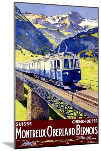 Montreux Oberland-Elzingre-Mounted Giclee Print