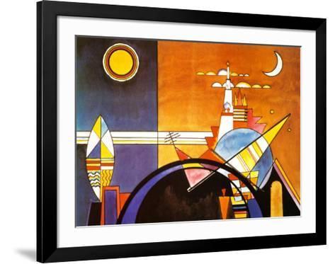 La Grande Piazza a Kiev-Wassily Kandinsky-Framed Art Print
