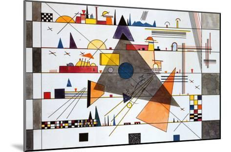 Horizonale, c.1924-Wassily Kandinsky-Mounted Art Print
