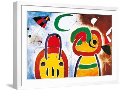 L'Oisauau Plumage Deploye-Joan Mir?-Framed Art Print