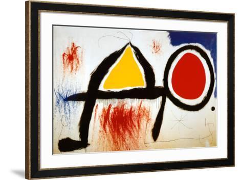 Personagge Devan Le Soleil-Joan Mir?-Framed Art Print