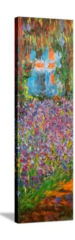 The Artist's Garden at Giverny (detail)-Claude Monet-Stretched Canvas Print