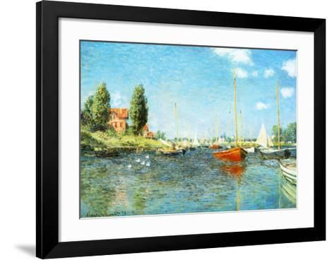 Red Boats at Argenteuil, c.1875-Claude Monet-Framed Art Print