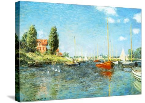 Red Boats at Argenteuil, c.1875-Claude Monet-Stretched Canvas Print