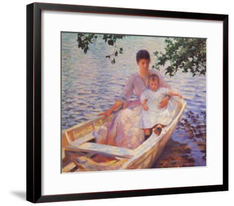Mother And Child-Edmund Charles Tarbell-Framed Art Print