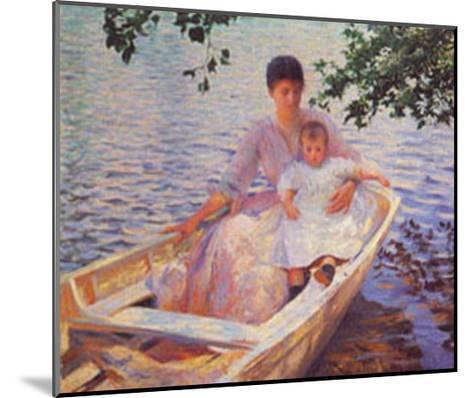 Mother And Child-Edmund Charles Tarbell-Mounted Art Print
