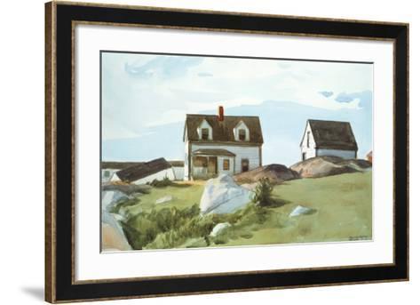 Houses Of Squam Light-Edward Hopper-Framed Art Print