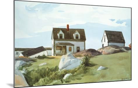 Houses Of Squam Light-Edward Hopper-Mounted Art Print